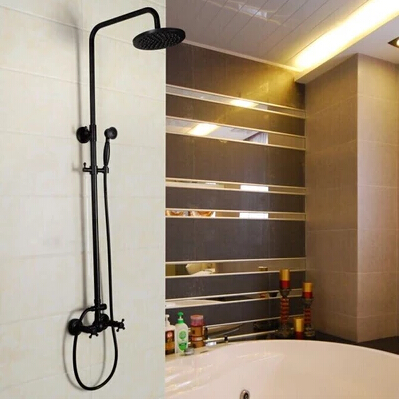 oil rubbed bronze shower