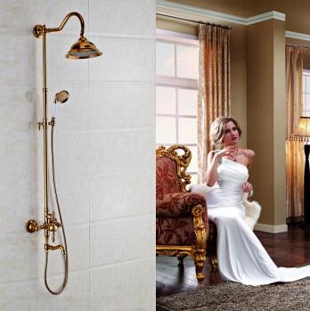 rose gold shower