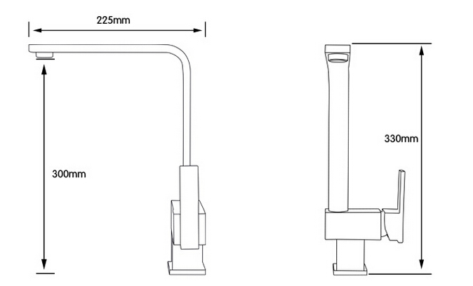 Look At The Dimension Of Kitchen Faucet It Has 13 Inch Height And 9 Length While Spout 11 Suitable Water Pressure Is