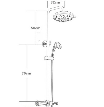 Luxury Brass Oxygen Outdoor Rain Shower Heads And Faucets