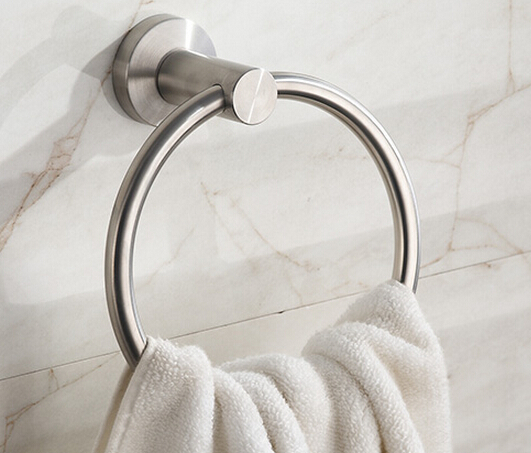 Modern Stainless Steel Bathroom Towel Rings Brushed Nickel
