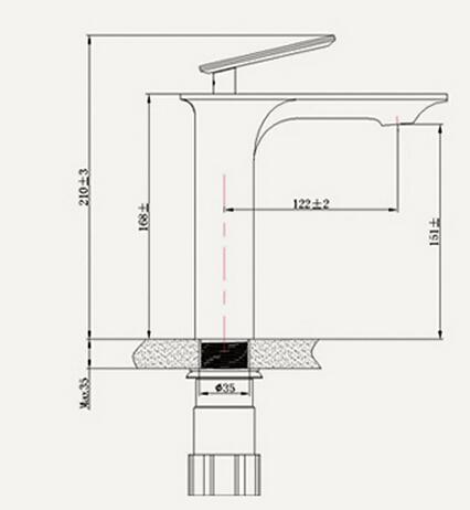 Bathroom Faucet Height slim single flat handle copper body bathroom sink faucets