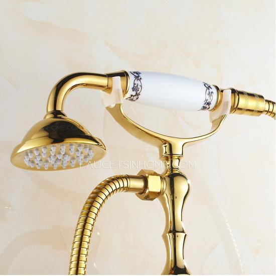 Rose Gold Bathtub Shower Faucet