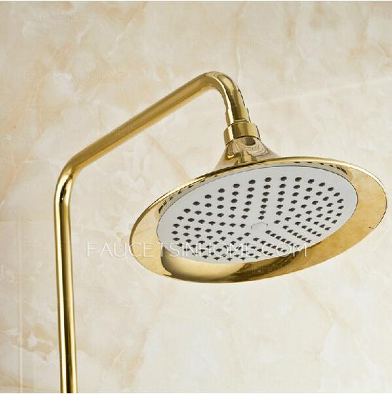 Vintage Polished Brass Shower Faucet