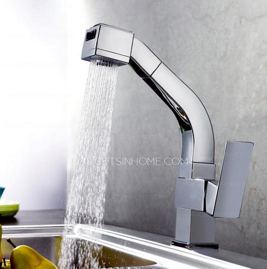 High End Square Shaped Rotatable Kitchen Faucet