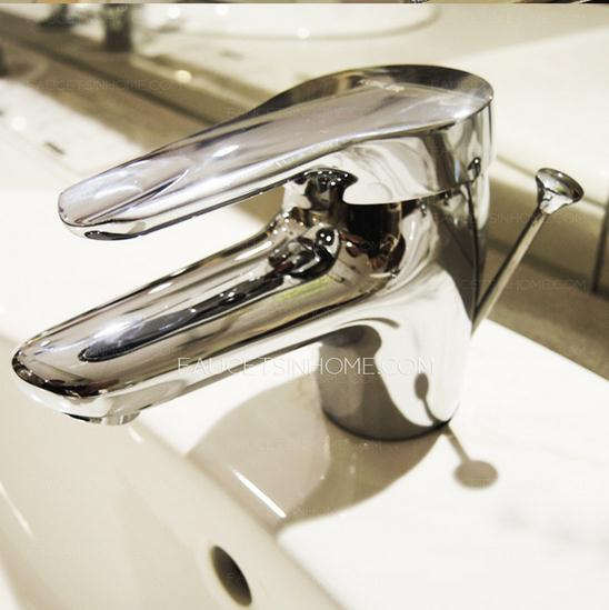 Shiny Short Bathroom Sink Faucet