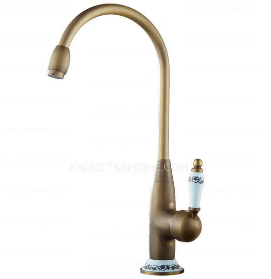 Antique Brass Ceramic Kitchen Faucets