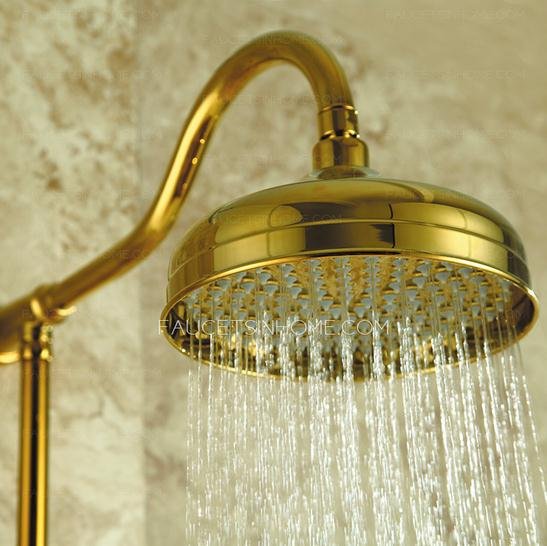 Polished Brass Bathroom Shower Faucet