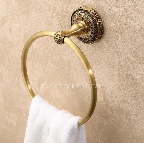Bathroom towel rings