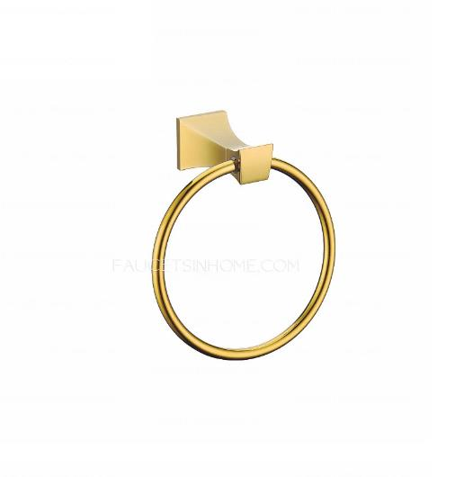 Polished brass towel rings