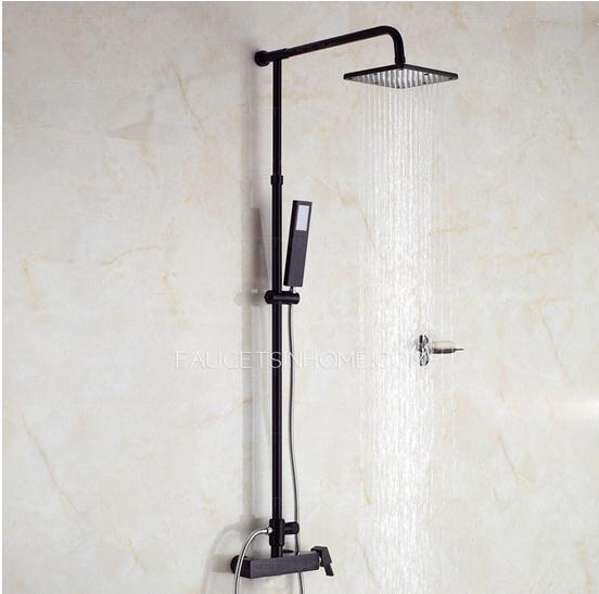 Unique Black Rain Shower Faucets