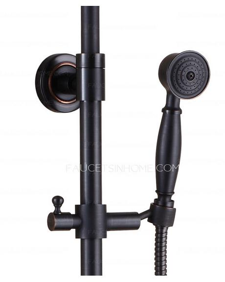 Black oil rubbed bronze shower faucet