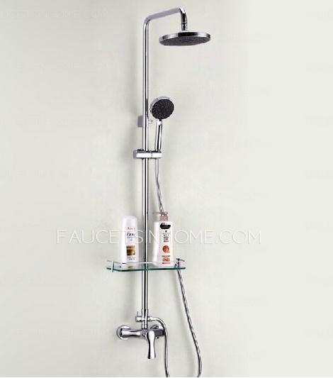 Shower Faucets With Glass Shelf