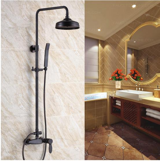 Oil rubbed bronze bathroom shower faucet
