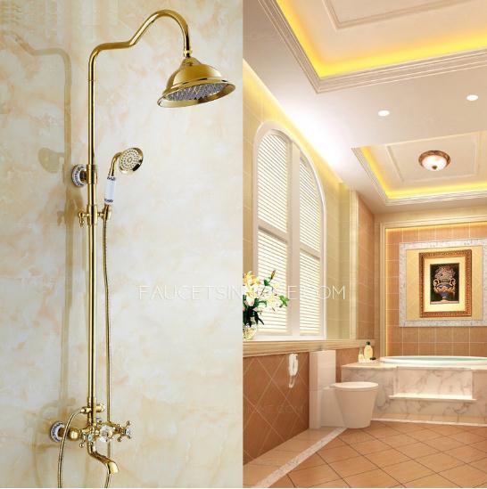 European Style Vintage Brass Shower Faucet