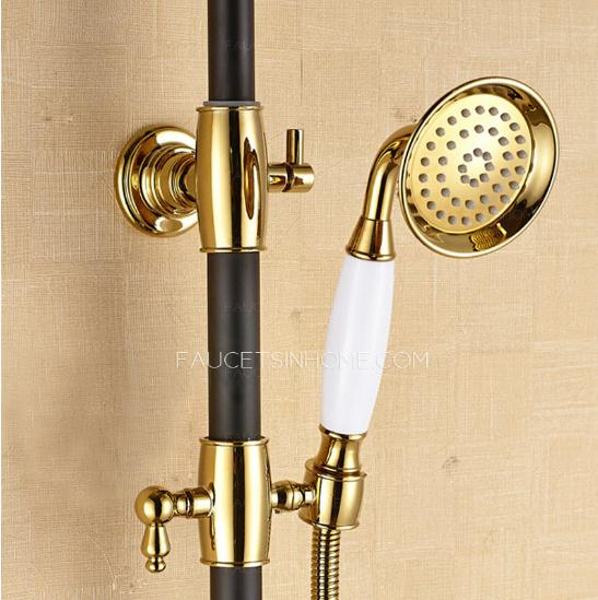 Designer Black Painting Brass Shower Faucets