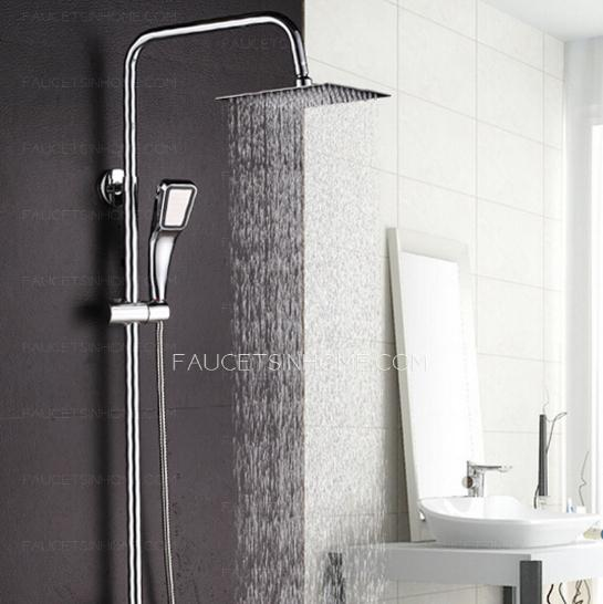 Modern Square Top Shower With Under Faucet