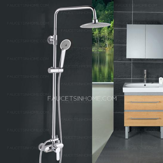 Modern Big Sun Top Hand Shower Faucet Set