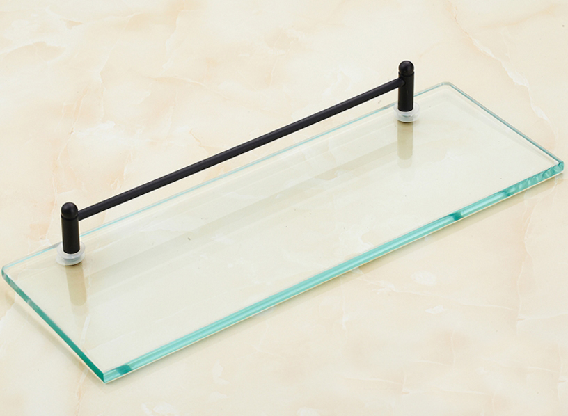 Oil Rubbed Bronze Bathroom Glass Shelves