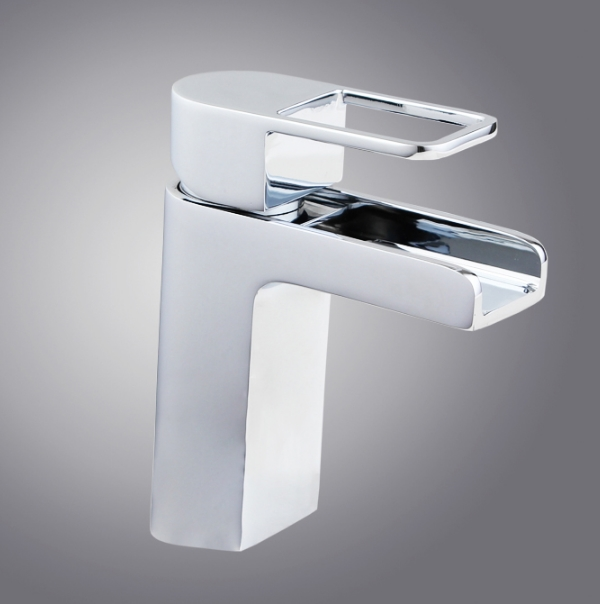 Square Shaped Waterfall Bathroom Faucet