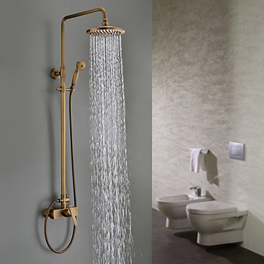 Antique Brass Tub Shower Faucet