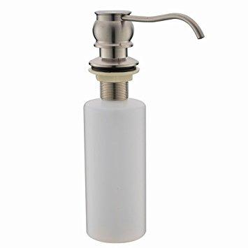 Stainless steel sink soap dispenser