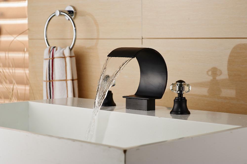 Bronze Waterfall Bathroom Faucets