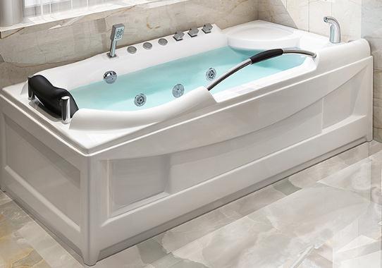 Massage the heated bathtub