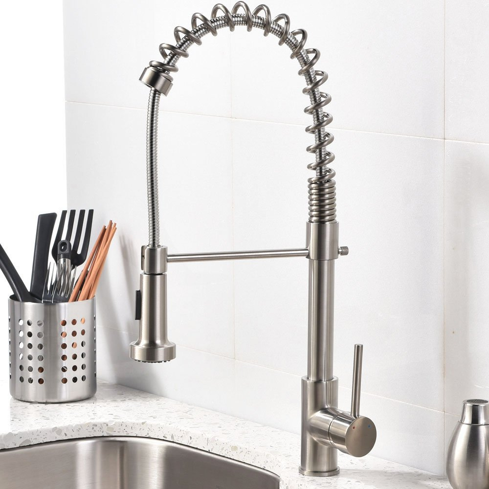 An overview regarding brushed nickel kitchen faucetFaucets ...