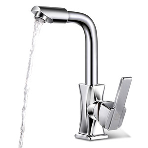 Convenient Rotatable One Hole Cold And Hot Water Bathroom Sink Faucet