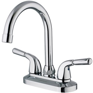Good Polished Brass Bathroom Sink Faucet With Three Holes Two Handles
