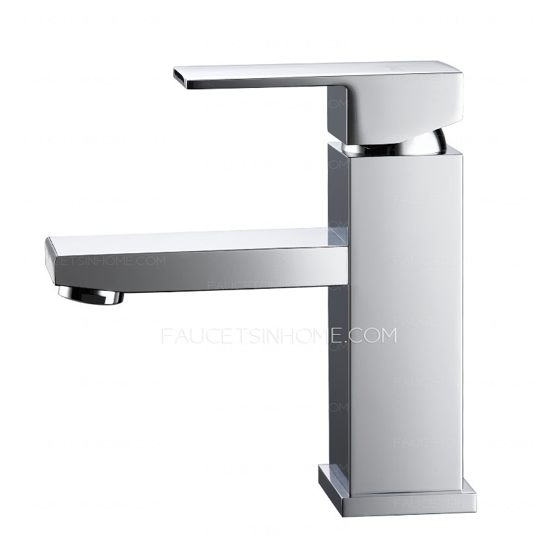 High End Square One Hole Bathroom Sink Faucet