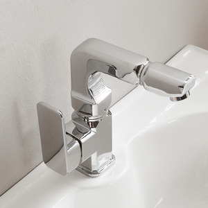 Fashion Design Bathroom Sink Faucet With Bi-Directional Rotation