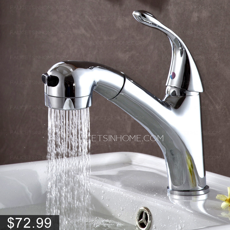Special pullout spray single handle bathroom sink faucet - Bathroom sink faucet with sprayer ...