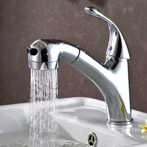 Special Pullout Spray Single Handle Bathroom Sink Faucet
