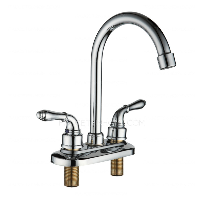 designed two holes two handles deck mounted bathroom sink