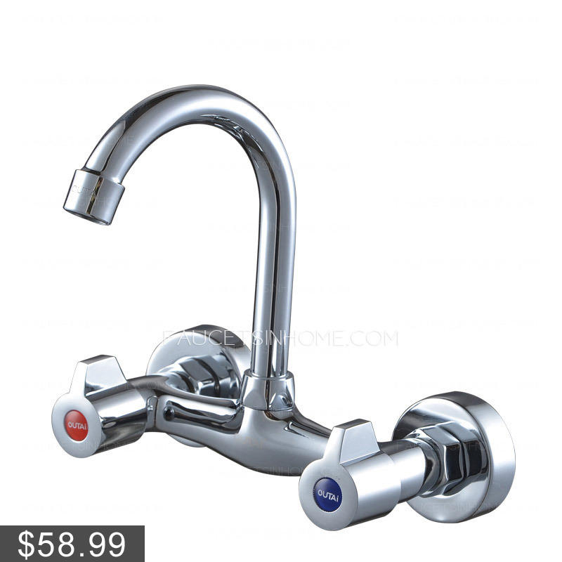 home bathroom sink faucets fashion wall mounted rotatable two