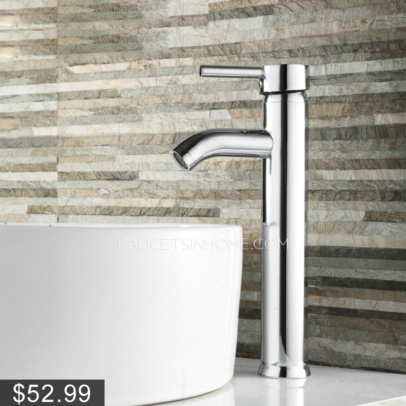 High Vessel One Hole Only Bathroom Sink Faucet
