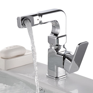 Fashion Seven Shaped Rotatable Bathroom Sink Faucet