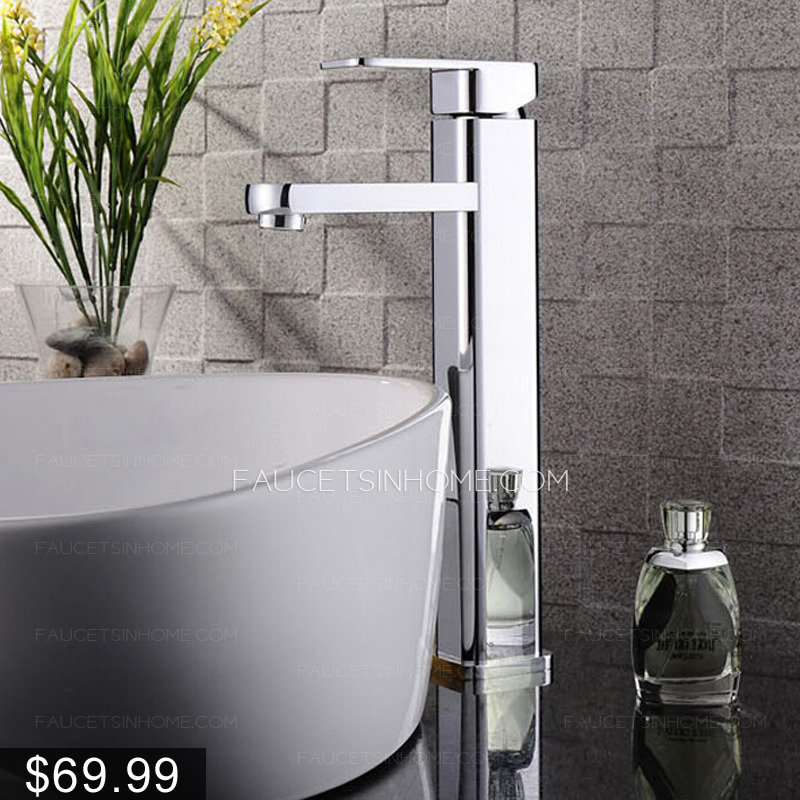 High end top mounted square vessel bathroom sink faucet for High end bathroom sink