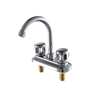 Classic Two Holes Two Handles Bathroom Sink Faucet