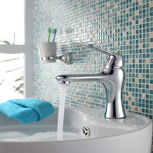 Fashion Design Single Handle Top Mounted Bathroom Sink Faucet