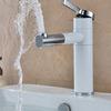 Vintage White Painted Rotatable Bathroom Sink Faucet
