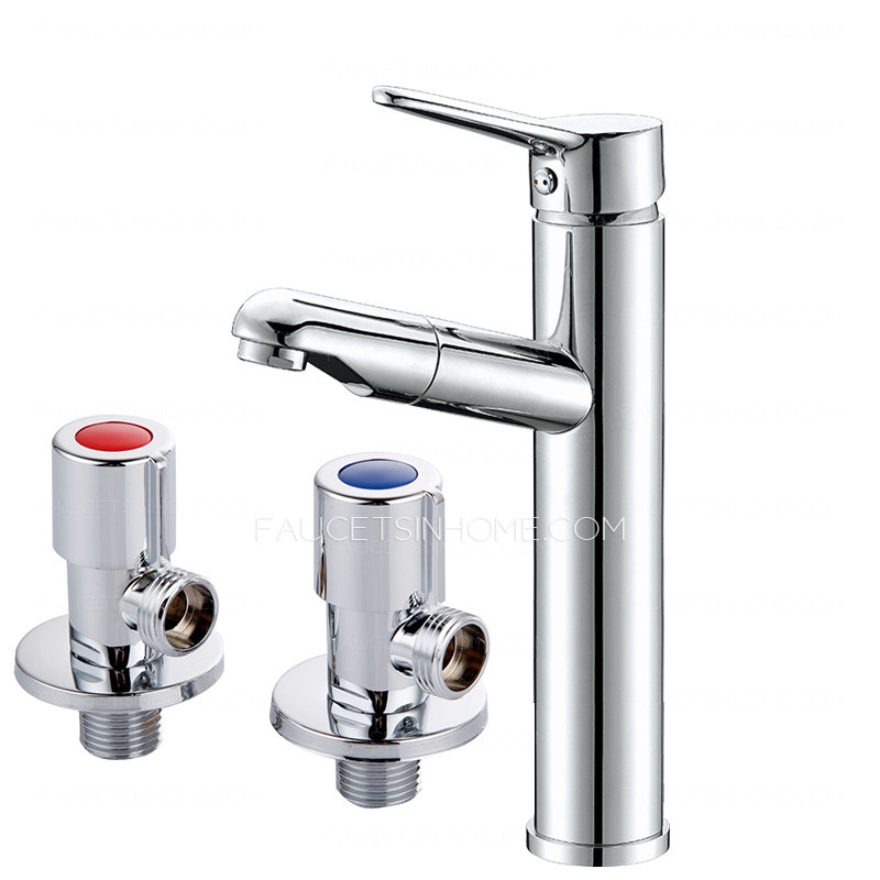 High End Faucets : High End Pullout Spray Cold Water Bathroom Sink Faucet