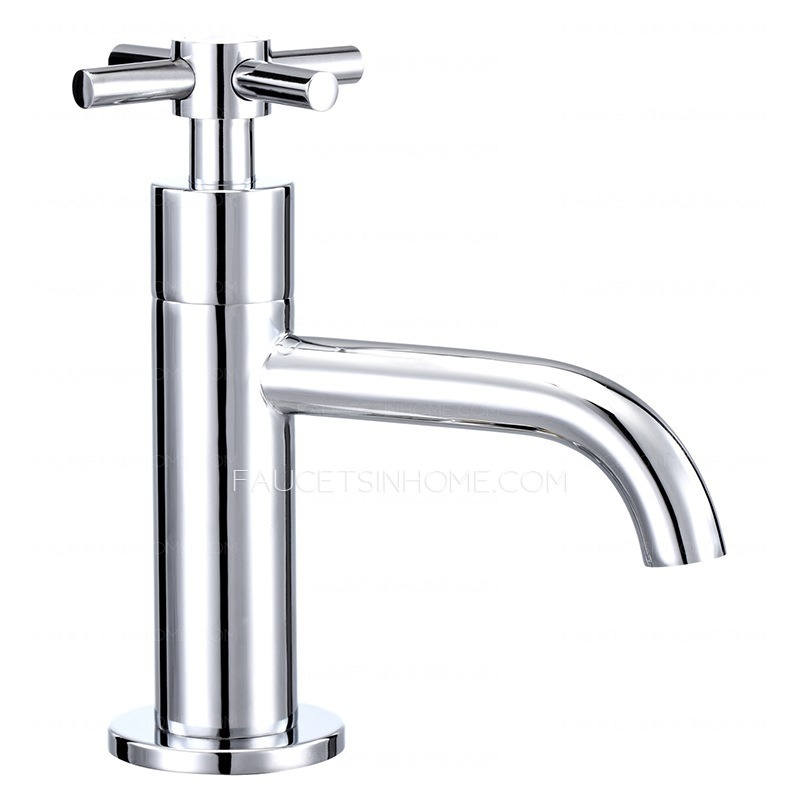 Vintage Single Hole Cold Water Only Bathroom Sink Faucet