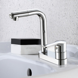 Best Design Two Holes Deck Mounted Bathroom Sink Faucet