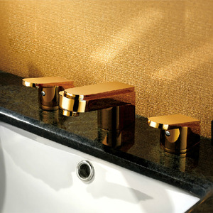 Luxury Split Style Three Set Antique Bathroom Sink Faucet