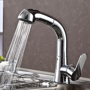 Cheap Pullout High Arc Top Kitchen Faucets With Sprayer
