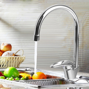 Elegant Brass Cold And Hot Water Rotatable Kitchen Faucet