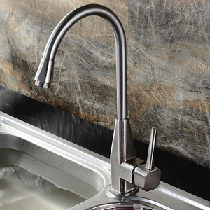 Discount Stainless Steel Heightening brushed Kitchen Faucet